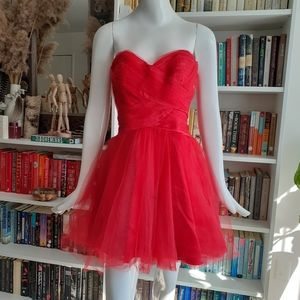 Vintage red ball short gown Roberta